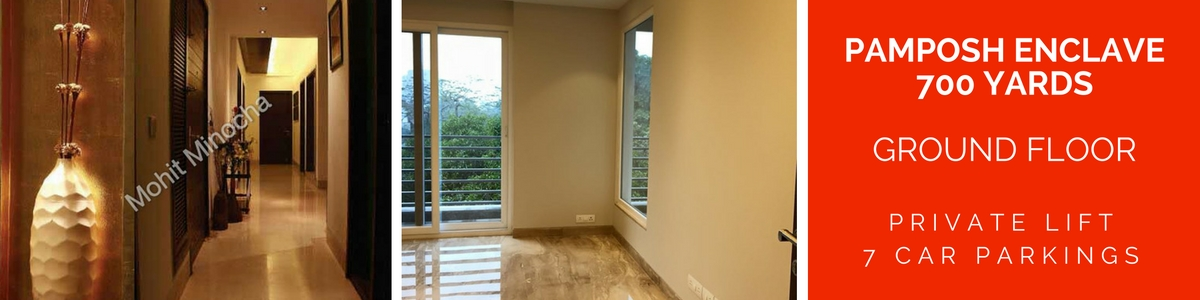 Pamposh Enclave, 700 Yards, Ground Floor with Seprate Lift, 6 Parkings