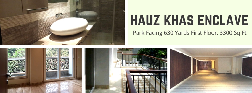 Hauz Khas Enclave,600 Yards,First Floor,4 BHK