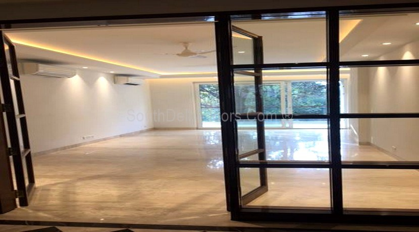 Flats in Gulmohar Park, 500 Yards Park facing Duplex with Swimming Pool