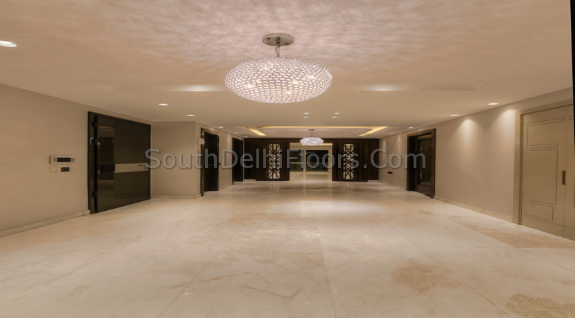 10,000 Sq Ft Duplex in GK-2, 1000 Yards Basement and Ground Duplex with Pool