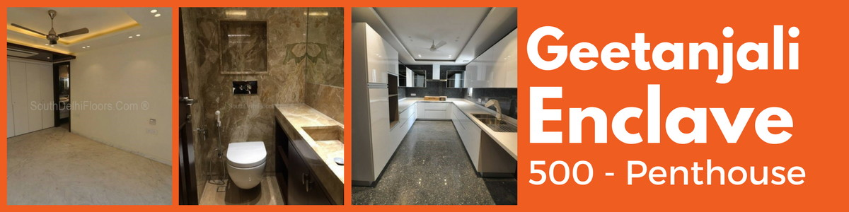 Geetanjali Enclave, 500 Yards Park Top Floor with Terrace, 4 BHK