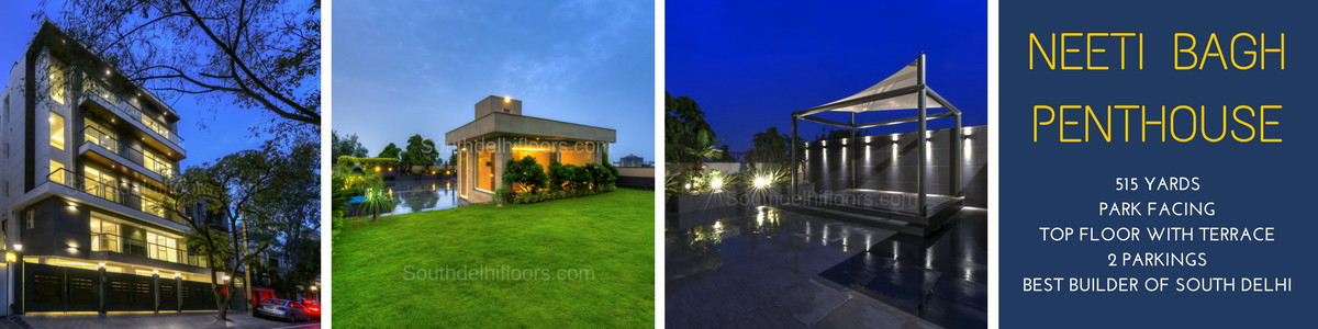 Neeti Bagh, 515 Yards Top Floor with Exclusive Terrace Garden, 4 Bedrooms