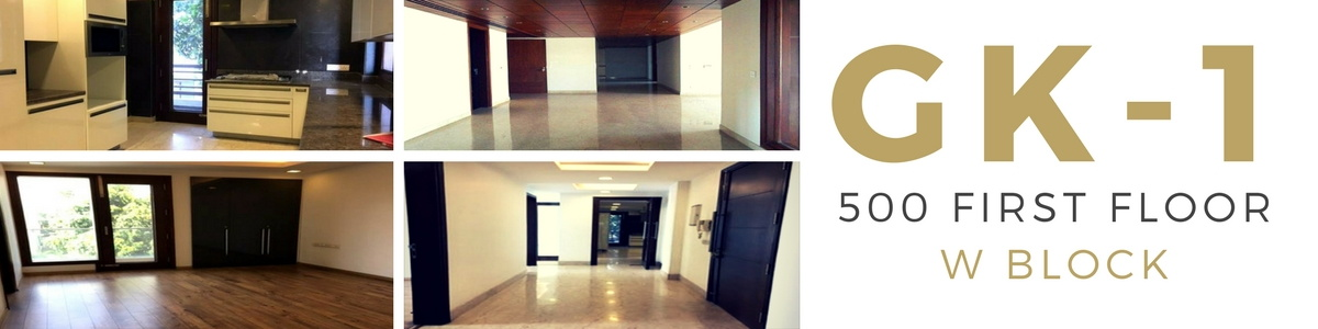 Greater Kailash Part 1, W Block, First Floor, 4 Bedrooms