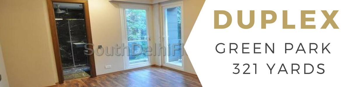 Flat in Green Park Delhi, Corner Basement and Ground Floor Duplex for Sale
