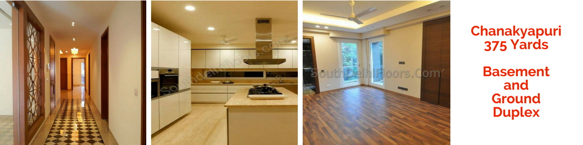Chanakyapuri, Basement and Ground Duplex, Park Facing 3 Bedrooms