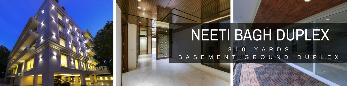 Duplex Flats in Neeti Bagh, 810 Yards Basement Ground with Swimming Pool
